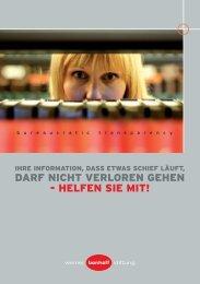 weitere Informationen zur Werner-Bonhoff-Stiftung und zum