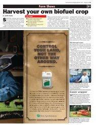 Harvest your own biofuel crop