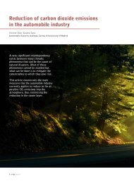 Reduction of carbon dioxide emissions in the automobile industry