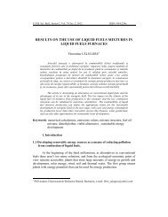 RESULTS ON THE USE OF LIQUID FUELS ... - Scientific Bulletin