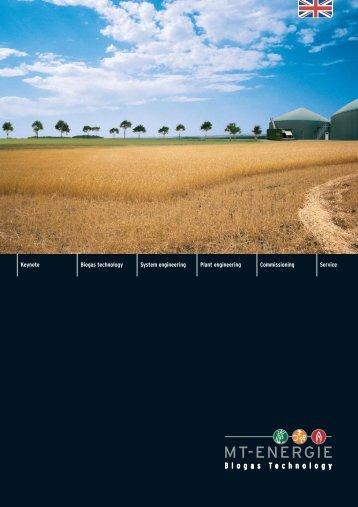 Keynote Biogas technology System engineering Plant engineering ...