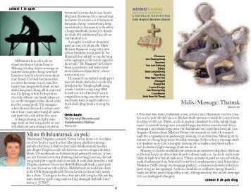 Minu thihdantatnak an pek: Malis (Massage) Thatnak - CBMC (D.C.)