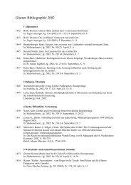 Glarner Bibliographie 2002 - Kanton Glarus