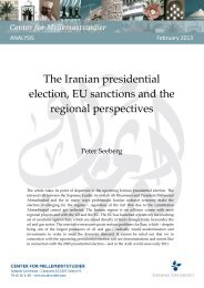 The Iranian presidential election, EU sanctions and the regional perspectives