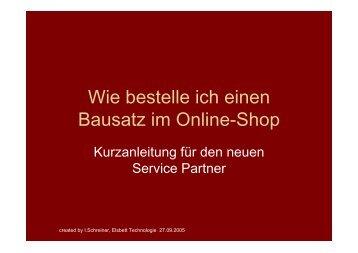 Wie bestelle ich einen Bausatz im Online-Shop - Elsbett