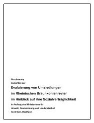 Kurzfassung Gutachten zur Evaluierung von ... - Bund NRW