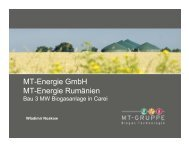 MT-Energie GmbH MT-Energie Rumänien - Econet Romania