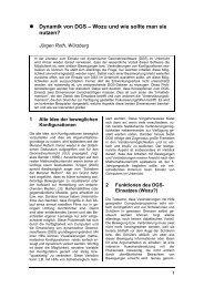 Dynamik von DGS - Didaktik der Mathematik (Sekundarstufen)