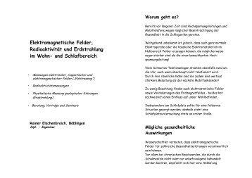 Elektromagnetische Felder, Radioaktivität und Erdstrahlung - Rainer ...
