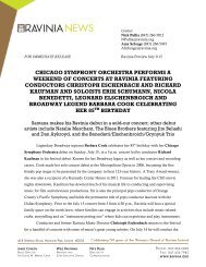Chicago Symphony Orchestra Performs a ... - Ravinia Festival