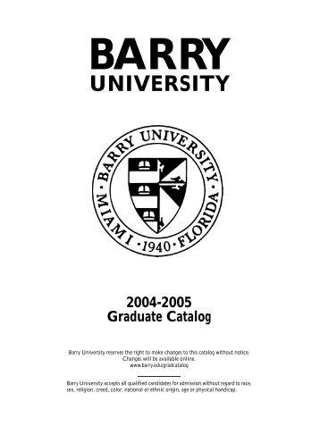 2004-2005 - Barry University