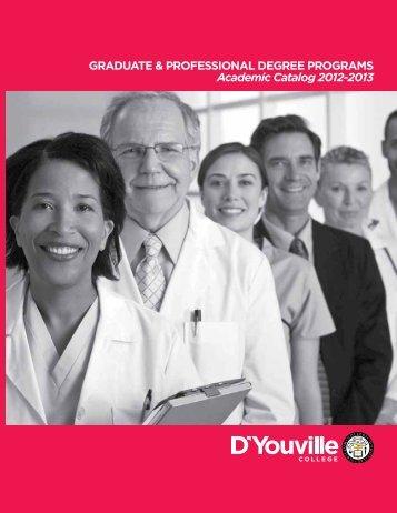 Graduate Catalog - D'Youville College