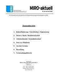 MIRO-aktuell - Bundesverband Mineralische Rohstoffe
