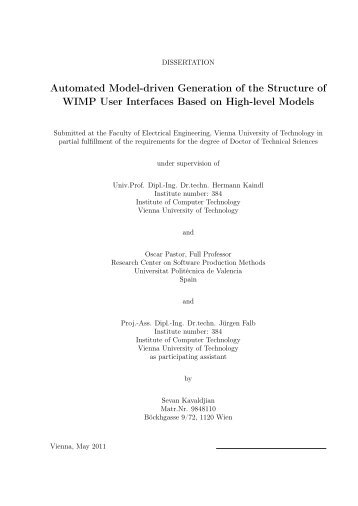 Master thesis on mobile communication