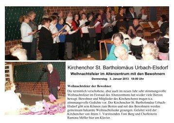 Kirchenchor St. Bartholomäus Urbach-Elsdorf - Altenzentrum Porz ...