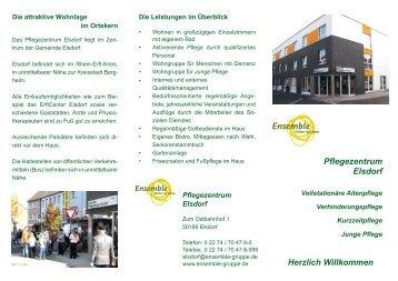 Pflegezentrum Elsdorf Herzlich Willkommen - Poli.care