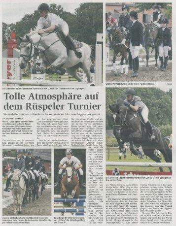 Tolle Atmosphäre auf de,ID Rüspeler Turnier - Reitverein Elsdorf ...