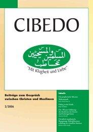 Beiträge zum Gespräch zwischen Christen und Muslimen 2 ... - cibedo