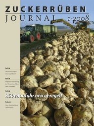 zuckerrüben journal 1-2008 zuckerrüben journal 1-2008