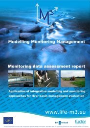 Monitoring Data Assessment report for the 3 original - M3-life: Project
