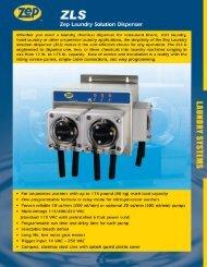 Spec Sheet - Zep Equipment
