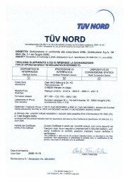 Certificato TUV normativa ENEL DK5940 2.1 ... - Nature Power