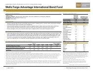 Wells Fargo Advantage Funds Quarterly Report