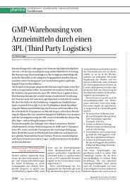 GMP-Warehousing von Arzneimitteln durch einen 3PL ... - Pharmaserv