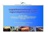Logistikansiedlungen aus regionalpolitischer Sicht - Logistics Baden ...