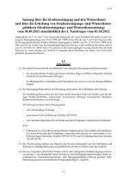 Satzung über die Straßenreinigung und den Winterdienst und über ...