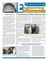 coe newsletter fall 01 final - College of Engineering - Montana State ...