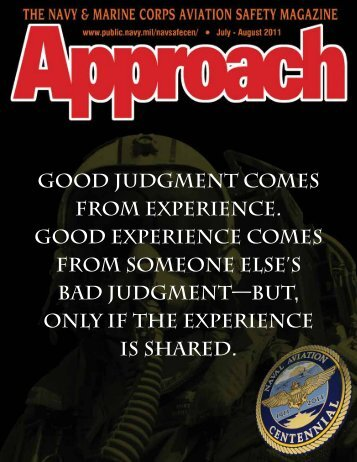 good judgment comes from experience. good ... - US Navy Hosting