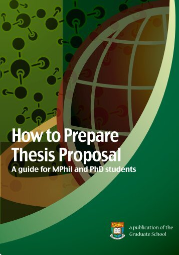 Preparation for a Thesis Proposal - HKU Graduate School