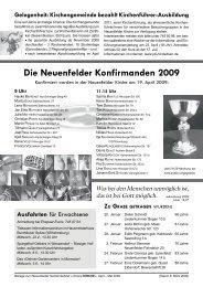 Die Neuenfelder Konfirmanden 2009