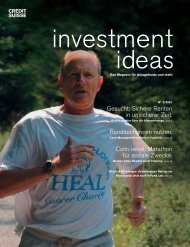 Investment Ideen (pdf) - Credit Suisse eMagazine - Deutschland