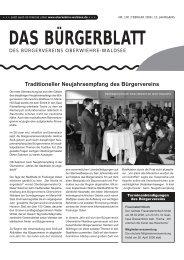 Ausgabe 100 - Feb 2006 - Bürgerverein Oberwiehre-Waldsee
