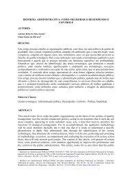 REFORMA ADMINISTRATIVA: COMO ... - Artigo Científico