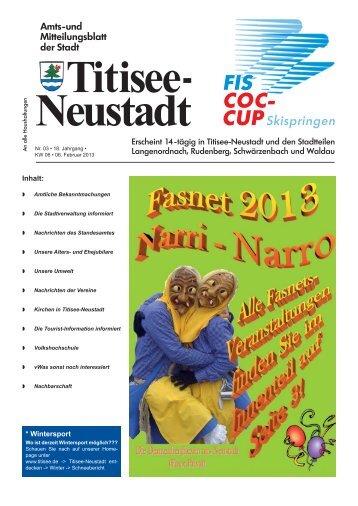 Amtsblatt Nr. 03 vom 06.02.2013 - Titisee-Neustadt
