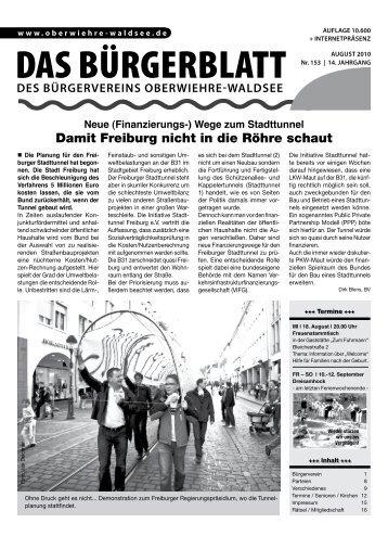 Ausgabe 153 - Aug 2010 (pdf, 4,5 MB - Bürgerverein Oberwiehre ...
