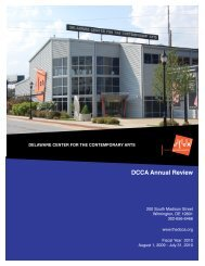 DCCA Annual Review - Delaware Center for the Contemporary Arts