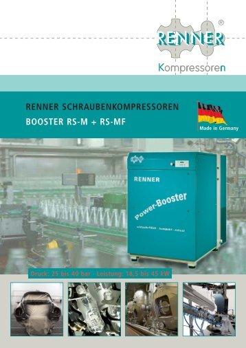 Download RS-M-Booster-Prospekt - RENNER-Kompressoren