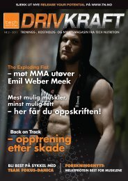 Last ned DRIVKRAFT nr. 2, 2011 her! - Tech Nutrition