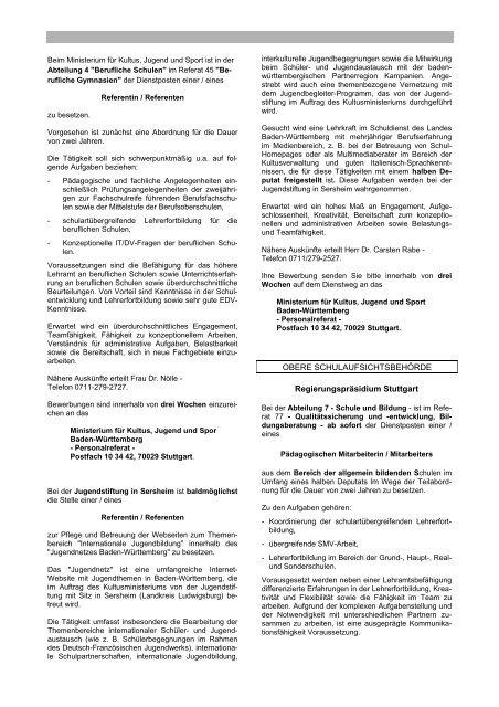 Amtsblatt Kultus und Unterricht Nr. 14-15/2009 vom 11. September ...