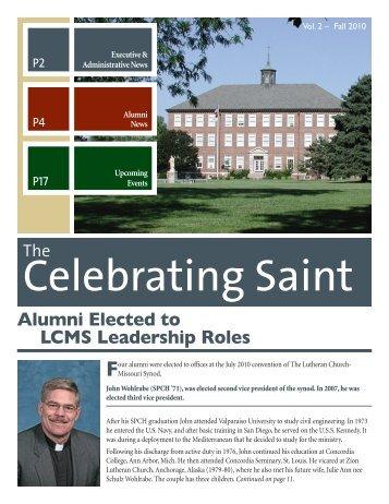 Alumni Newsletter Fall 2010 (PDF) - Saint Paul Lutheran High School