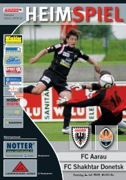 HEIMSPIEL als PDF (Shakhtar Donetsk) - FC Aarau