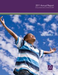 2011: Dreams - Children's Aid and Family Services