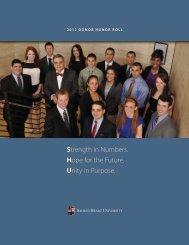 2011-2012 Donor Report pdf - Sacred Heart University