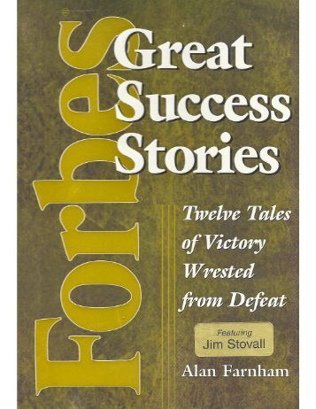 Chapter about Jim Stovall in Forbes' book, Great - Narrative ...