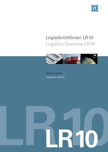 Logistikrichtlinie LR 10 - ZF Friedrichshafen AG