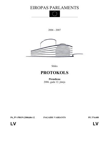 EIROPAS PARLAMENTS PROTOKOLS LV LV